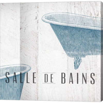 Metaverse Art Salle De Bains I Gallery Wrapped Canvas Wall Art