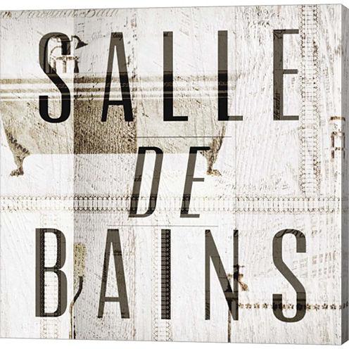 Salle De Bains II Gallery Wrapped Canvas Wall ArtOn Deep Stretch Bars