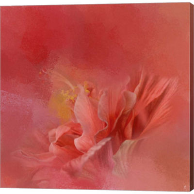 Metaverse Art Salmon Hibiscus 3 Gallery Wrapped Canvas Wall Art
