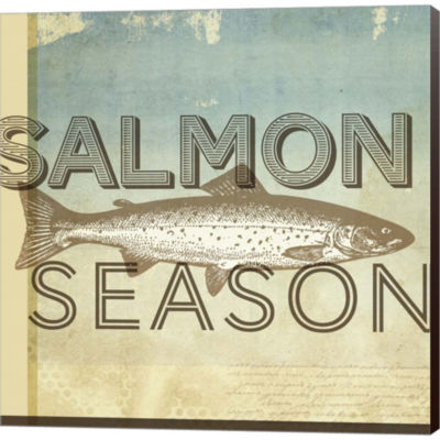 Metaverse Art Salmon Season Gallery Wrapped CanvasWall Art