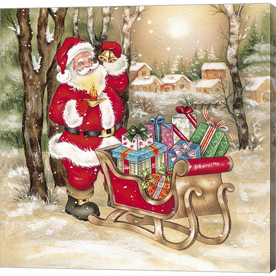 Metaverse Art Santa's Bells And Candle Gallery Wrapped Canvas Wall Art