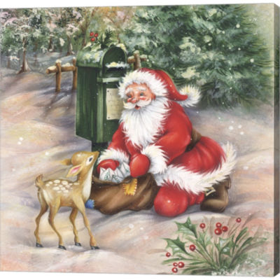 Metaverse Art Santa's Meeting At The Mailbox Gallery Wrapped Canvas Wall Art