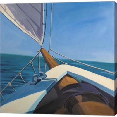 Metaverse Art Schooner Gallery Wrapped Canvas WallArt