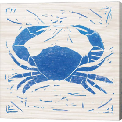 Metaverse Art Sea Creature Crab Gallery Wrapped Canvas Wall Art
