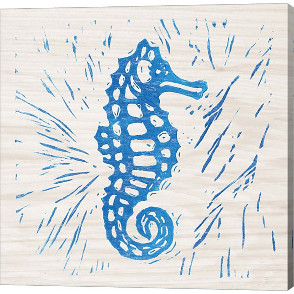Metaverse Art Sea Creature Seahorse Gallery Wrapped Canvas Wall Art