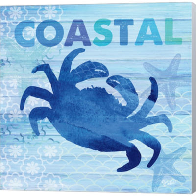 Metaverse Art Sea Glass Crab Gallery Wrapped Canvas Wall Art