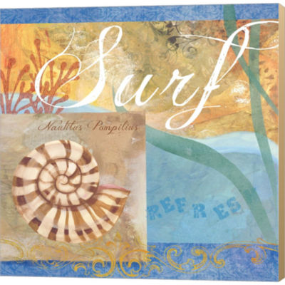 Metaverse Art Seashells IV Gallery Wrapped CanvasWall Art