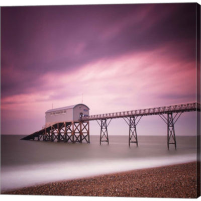 Metaverse Art Selsey Lifeboat Station Gallery Wrapped Canvas Wall Art