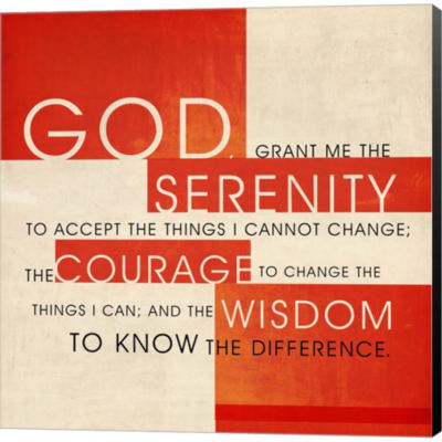 Serenity Prayer Gallery Wrapped Canvas Wall Art OnDeep Stretch Bars