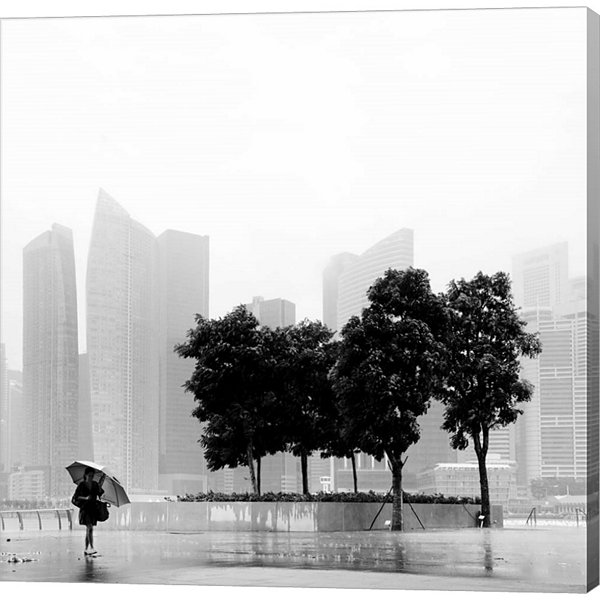 Metaverse Art Singapore Umbrella Gallery Wrapped Canvas Wall Art