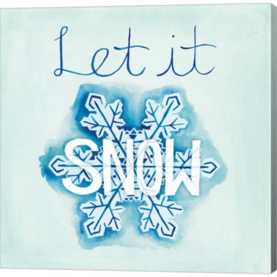 Metaverse Art Snowflake Sayings I Gallery WrappedCanvas Wall Art
