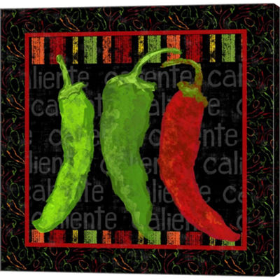 Metaverse Art Spicy Peppers I Gallery Wrapped Canvas Wall Art