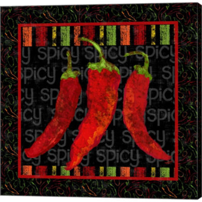 Metaverse Art Spicy Peppers II Gallery Wrapped Canvas Wall Art