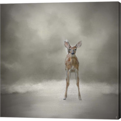 Metaverse Art Stand Strong Little Fawn Gallery Wrapped Canvas Wall Art