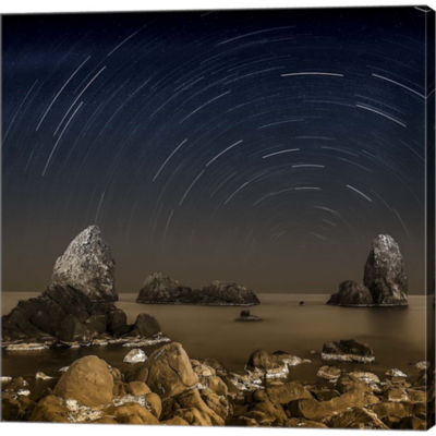 Metaverse Art Starry Night Gallery Wrapped CanvasWall Art