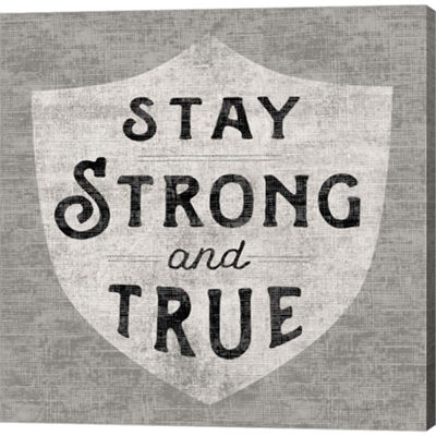 Metaverse Art Stay Strong Gallery Wrapped Canvas Wall Art