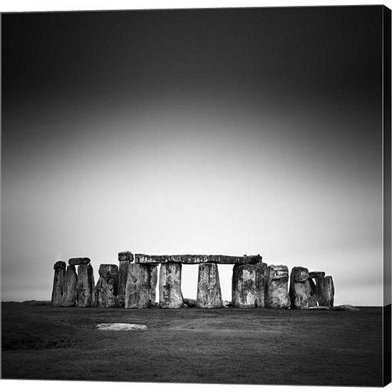 Metaverse Art Stonehenge Gallery Wrapped Canvas Wall Art
