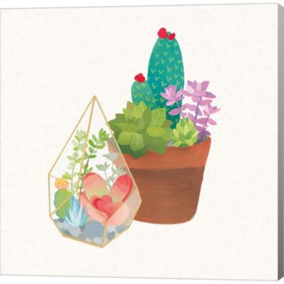 Metaverse Art Succulent Garden I Gallery Wrapped Canvas Wall Art