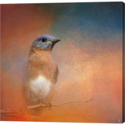 Metaverse Art Summer Day Bluebird Gallery WrappedCanvas Wall Art