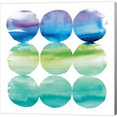 Metaverse Art Summer Dots II Gallery Wrapped Canvas Wall Art