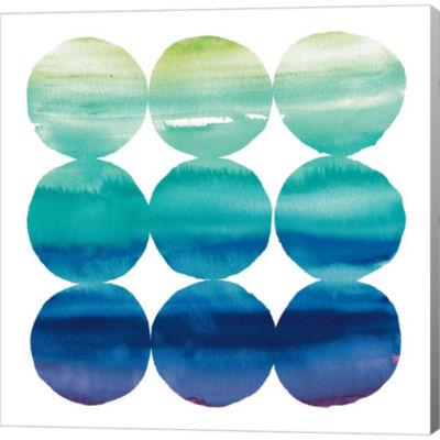 Metaverse Art Summer Dots III Gallery Wrapped Canvas Wall Art
