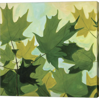 Metaverse Art Summer Leaves Gallery Wrapped CanvasWall Art