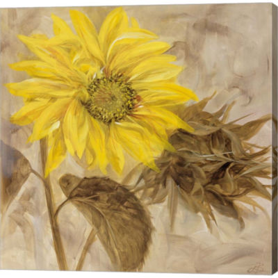 Metaverse Art Sunflower I Gallery Wrapped Canvas Wall Art