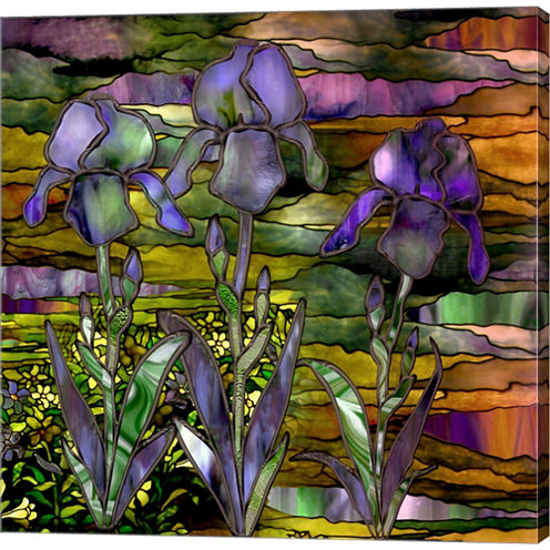 Sunset Irises Gallery Wrapped Canvas Wall Art On Deep Stretch Bars