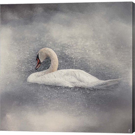 Metaverse Art Swan Storm Gallery Wrapped Canvas Wall Art