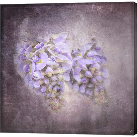 Metaverse Art Sweet Wisteria Gallery Wrapped Canvas Wall Art