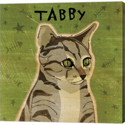 Metaverse Art Tabby Gallery Wrapped Canvas Wall Art