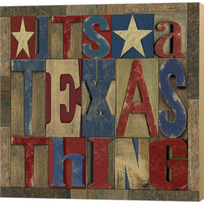 Metaverse Art Texas Printer Block III Gallery Wrapped Canvas Wall Art