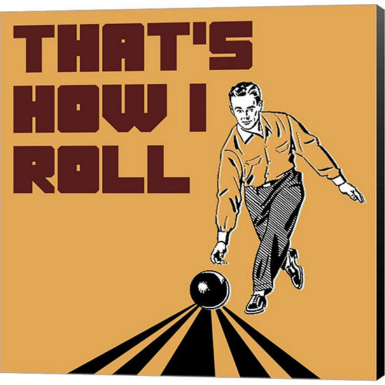 Metaverse Art That's How I Roll - Man Gallery Wrapped Canvas Wall Art