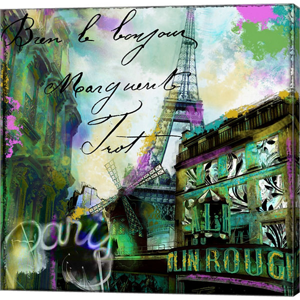 Metaverse Art To Paris With Love II Gallery Wrapped Canvas Wall Art