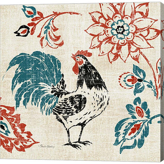 Metaverse Art Toile Rooster I Gallery Wrapped Canvas Wall Art