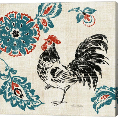 Metaverse Art Toile Rooster II Gallery Wrapped Canvas Wall Art