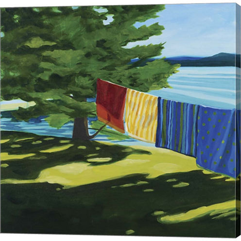 Towels At Tracy's Camp Gallery Wrapped Canvas WallArt On Deep Stretch Bars