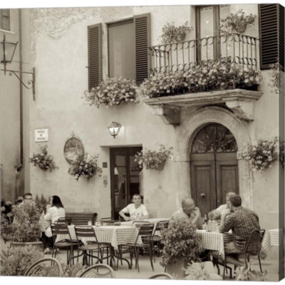 Metaverse Art Tuscany Caffe VI Gallery Wrapped Canvas Wall Art