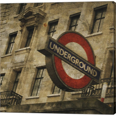 Metaverse Art Underground Gallery Wrapped Canvas Wall Art