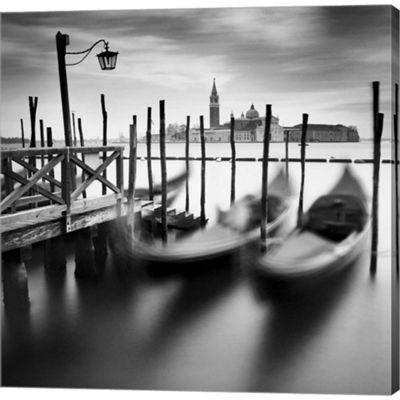 Metaverse Art Venice Gondolas Gallery Wrapped Canvas Wall Art