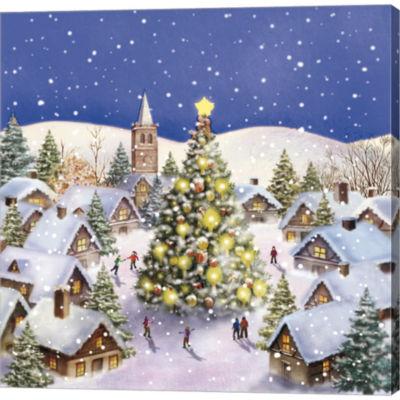 Metaverse Art Village Christmas Tree Meet GalleryWrapped Canvas Wall Art