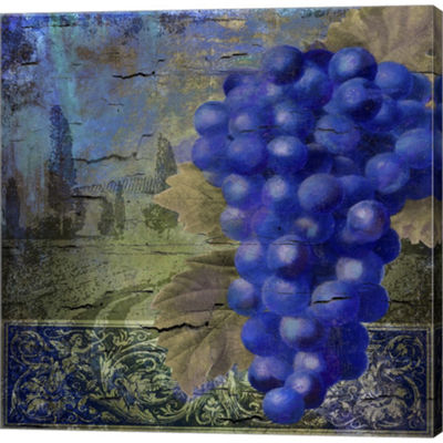 Metaverse Art Vino Blu One Gallery Wrapped CanvasWall Art