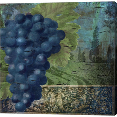 Metaverse Art Vino Blu Two Gallery Wrapped CanvasWall Art