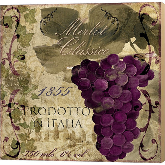 Metaverse Art Vino Italiano I Gallery Wrapped Canvas Wall Art