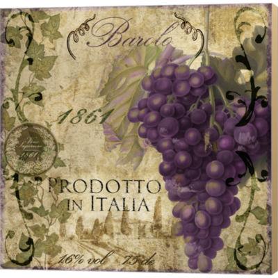 Metaverse Art Vino Italiano II Gallery Wrapped Canvas Wall Art