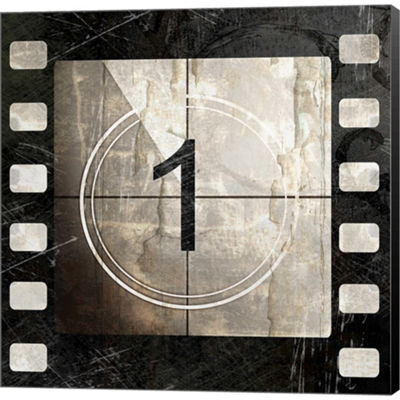 Metaverse Art Vintage Countdown I Gallery WrappedCanvas Wall Art