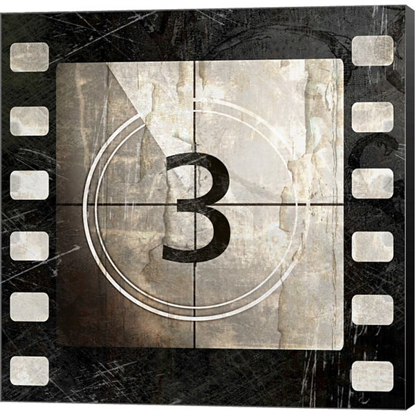 Metaverse Art Vintage Countdown III Gallery Wrapped Canvas Wall Art