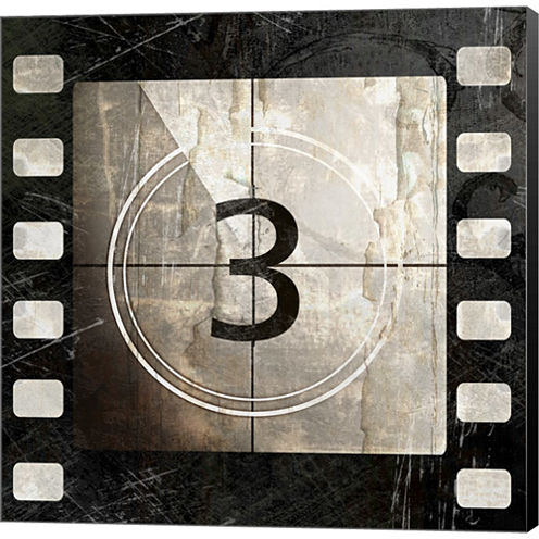 Vintage Countdown III Gallery Wrapped Canvas WallArt On Deep Stretch Bars