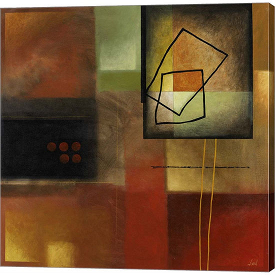 Metaverse Art Warm Reflections II Gallery WrappedCanvas Wall Art