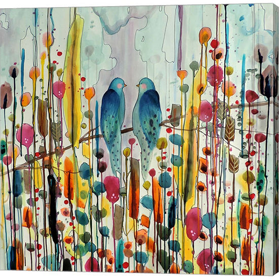 Metaverse Two Birds Wrapped Canvas Wall Art